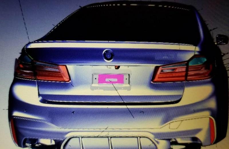 проектные изображения M-версии BMW 5-Series нового поколения