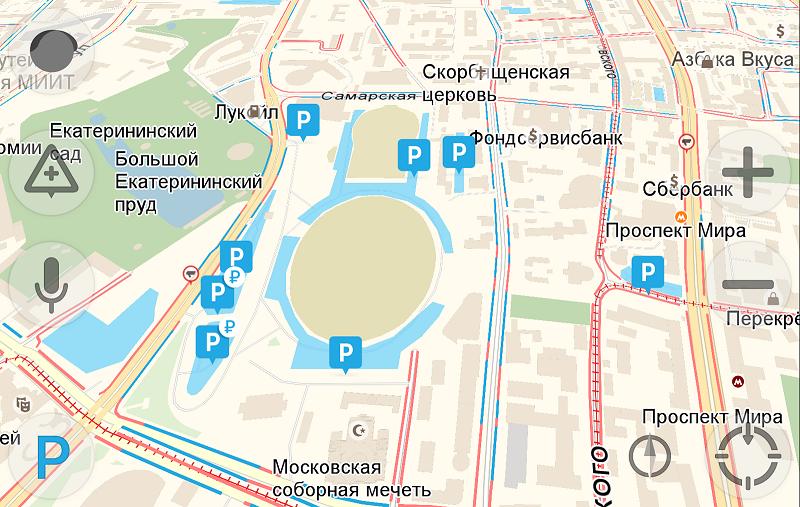 Яндекс.Навигатор с парковками