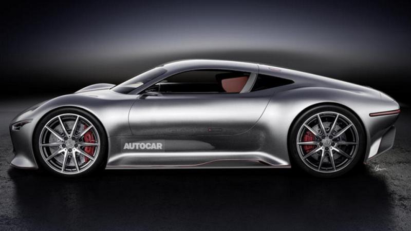 Предполагаемый внешний вид гиперкара Mercedes-AMG. Иллюстрация Autocar