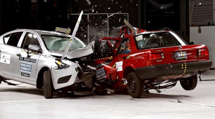В США устроили краш-тест старого и современного Nissan