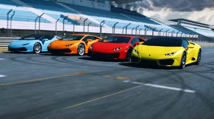 Lamborghini собрала все версии Huracan в одном видео